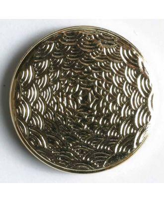 Kunststoffknopf metallisiert, mit Struktur - Größe: 14mm - Farbe: gold - Art.Nr. 200548
