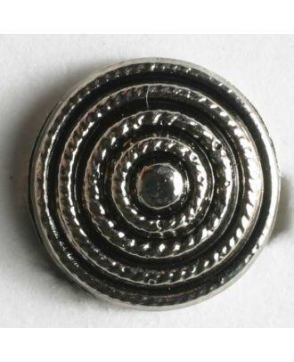 Kunststoffknopf metallisiert mit spiralförmiger Verzierung - Größe: 11mm - Farbe: altsilber - Art.Nr. 180299