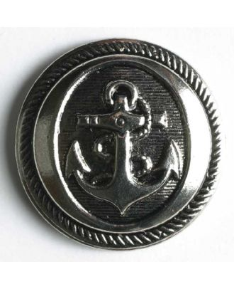 Ankerknopf, Kunststoff metallisiert - Größe: 21mm - Farbe: altsilber - Art.Nr. 240288