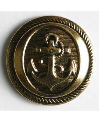 Ankerknopf, Kunststoff metallisiert - Größe: 21mm - Farbe: altgold - Art.Nr. 270266