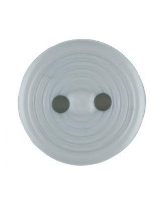 Polyamidknopf Rillenstruktur mit 2 Löchern - Größe: 13mm - Farbe: grau - Art.Nr. 217700