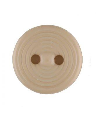 Polyamidknopf Rillenstruktur mit 2 Löchern - Größe: 13mm - Farbe: beige - Art.Nr. 217701