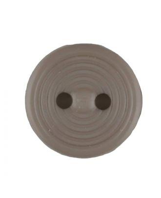 Polyamidknopf Rillenstruktur mit 2 Löchern - Größe: 13mm - Farbe: beige - Art.Nr. 217702