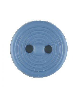 Polyamidknopf Rillenstruktur mit 2 Löchern - Größe: 13mm - Farbe: blau - Art.Nr. 217704