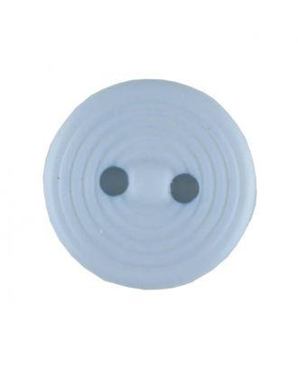 Polyamidknopf Rillenstruktur mit 2 Löchern - Größe: 13mm - Farbe: blau - Art.Nr. 217705