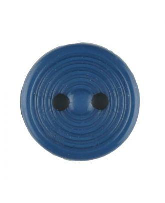 Polyamidknopf Rillenstruktur mit 2 Löchern - Größe: 13mm - Farbe: blau - Art.Nr. 217706
