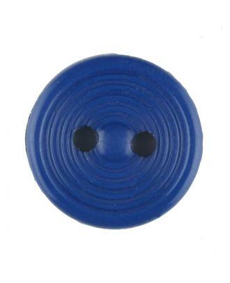 Polyamidknopf Rillenstruktur mit 2 Löchern - Größe: 13mm - Farbe: blau - Art.Nr. 217707