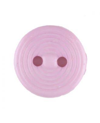 Polyamidknopf Rillenstruktur mit 2 Löchern - Größe: 13mm - Farbe: pink - Art.Nr. 217714