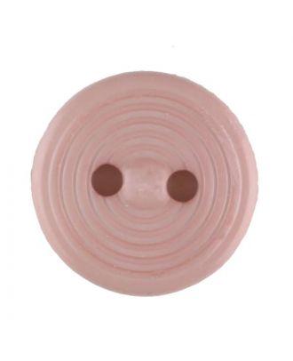Polyamidknopf Rillenstruktur mit 2 Löchern - Größe: 13mm - Farbe: pink - Art.Nr. 217715