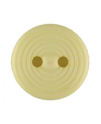 Polyamidknopf Rillenstruktur mit 2 Löchern - Größe: 13mm - Farbe: gelb - Art.Nr. 217717