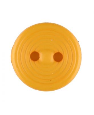 Polyamidknopf Rillenstruktur mit 2 Löchern - Größe: 13mm - Farbe: gelb - Art.Nr. 217718