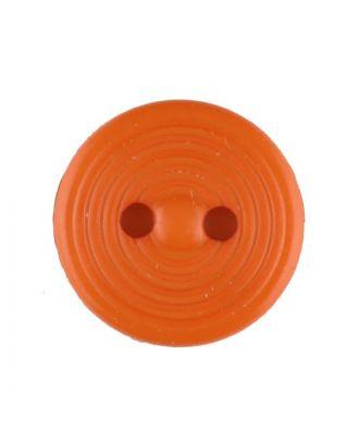 Polyamidknopf Rillenstruktur mit 2 Löchern - Größe: 13mm - Farbe: orange - Art.Nr. 217719