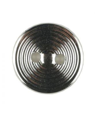 Polyamidknopf Rillenstruktur mit 2 Löchern - Größe: 13mm - Farbe: silber - Art.Nr. 221860