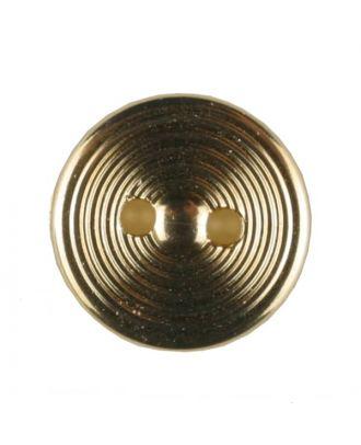 Polyamidknopf Rillenstruktur mit 2 Löchern - Größe: 13mm - Farbe: echt vergoldet - Art.Nr. 231628