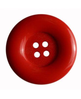 Modeknopf mit Wulstrand - Größe: 50mm - Farbe: rot - Art.Nr. 380082