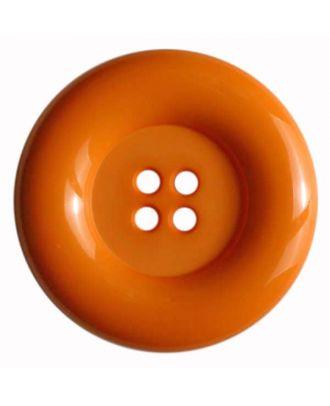 Modeknopf mit Wulstrand - Größe: 50mm - Farbe: orange - Art.Nr. 380084