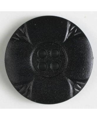 Polyamidknopf mit Löchern - Größe: 28mm - Farbe: schwarz - Art.Nr. 341074