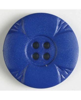 Polyamidknopf mit Löchern - Größe: 28mm - Farbe: blau - Art.Nr. 348635