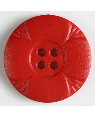 Polyamidknopf mit Löchern - Größe: 28mm - Farbe: rot - Art.Nr. 341076