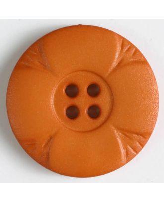 Polyamidknopf mit Löchern - Größe: 28mm - Farbe: orange - Art.Nr. 348640