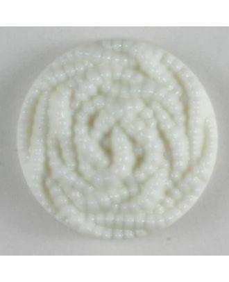 Modeknopf mit Perlenmuster - Größe: 18mm - Farbe: weiß - Art.Nr. 180022