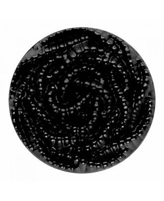 Modeknopf mit Perlenmuster - Größe: 23mm - Farbe: schwarz - Art.Nr. 210553