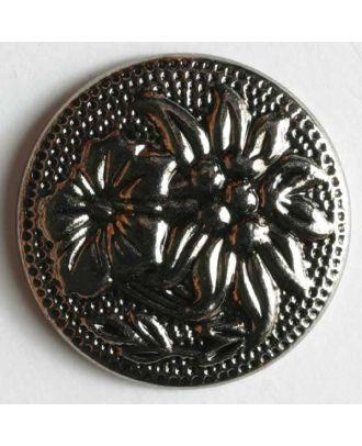 Edelweissknopf, Kunststoff metallisiert - Größe: 19mm - Farbe: altsilber - Art.Nr. 230460