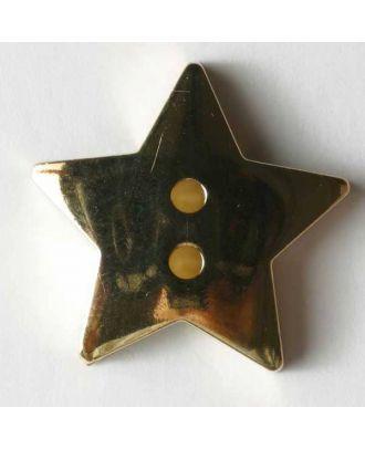 Goldener Stern, Kunststoffknopf metallisiert - Größe: 20mm - Farbe: gold - Art.Nr. 270320