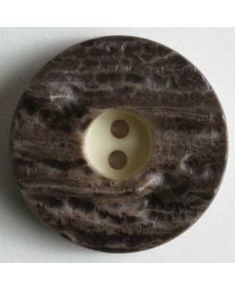 Hirschhornimitat - Größe: 25mm - Farbe: braun - Art.Nr. 260307