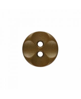 Polyamidknopf rund mit 2 Löchern - Größe: 13mm - Farbe: beige - Art.-Nr.: 226803