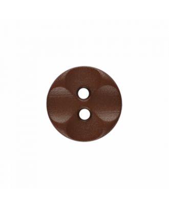 Polyamidknopf rund mit 2 Löchern - Größe: 13mm - Farbe: braun - Art.-Nr.: 226804