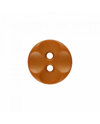 Polyamidknopf rund mit 2 Löchern - Größe: 13mm - Farbe: braun - Art.-Nr.: 226806
