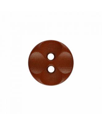 Polyamidknopf rund mit 2 Löchern - Größe: 13mm - Farbe: braun - Art.-Nr.: 226807