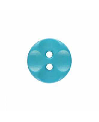 Polyamidknopf rund mit 2 Löchern - Größe: 13mm - Farbe: blau - Art.-Nr.: 226809