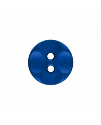 Polyamidknopf rund mit 2 Löchern - Größe: 13mm - Farbe: royal blau - Art.-Nr.: 226811