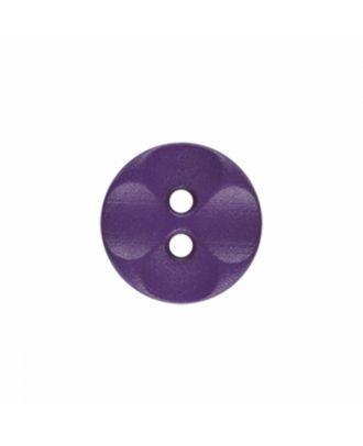Polyamidknopf rund mit 2 Löchern - Größe: 13mm - Farbe: lila - Art.-Nr.: 226813