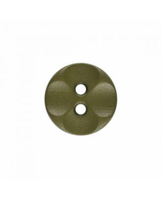 Polyamidknopf rund mit 2 Löchern - Größe: 13mm - Farbe: hellgrün - Art.-Nr.: 226815