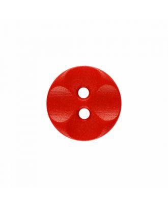 Polyamidknopf rund mit 2 Löchern - Größe: 13mm - Farbe: rot - Art.-Nr.: 226823