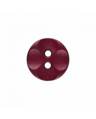 Polyamidknopf rund mit 2 Löchern - Größe: 13mm - Farbe: weinrot - Art.-Nr.: 226824