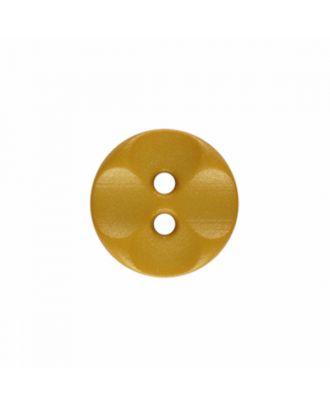 Polyamidknopf rund mit 2 Löchern - Größe: 13mm - Farbe: gelb - Art.-Nr.: 226826