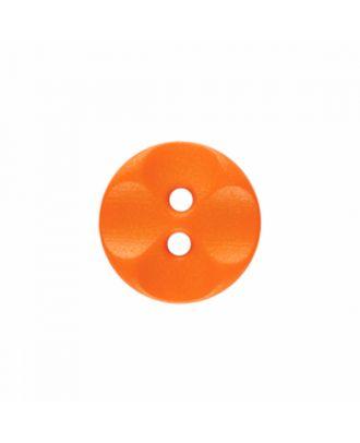 Polyamidknopf rund mit 2 Löchern - Größe: 13mm - Farbe: orange - Art.-Nr.: 226828