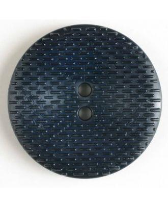 Modeknopf mit gestrichelten Linien, 2 Loch - Größe: 30mm - Farbe: blau - Art.Nr. 342514