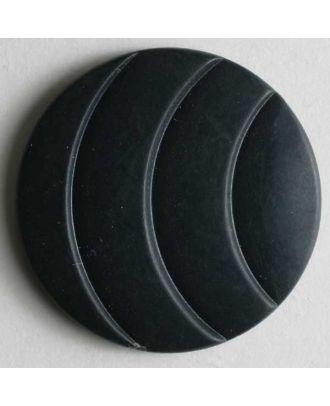 Modeknopf mit eingravierten Bögen - Größe: 20mm - Farbe: blau - Art.Nr. 260832
