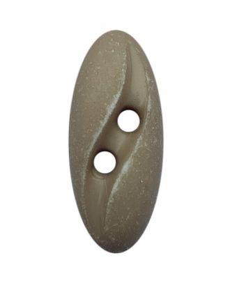 """Polyamidknopf oval im """"Vintage Look""""  mit 2 Löchern - Größe:  20mm - Farbe: beige - ArtNr.: 318801"""