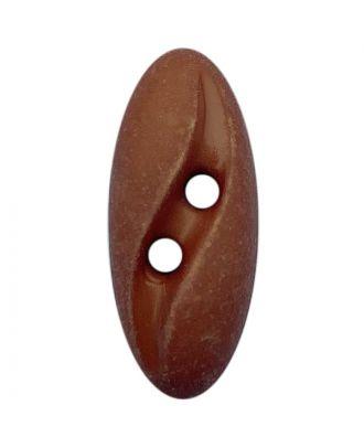 """Polyamidknopf oval im """"Vintage Look""""  mit 2 Löchern - Größe:  20mm - Farbe: braun - ArtNr.: 318802"""