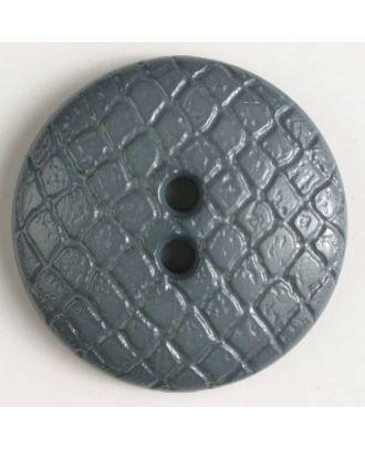 Polyamidknopf leicht gewölbt, Oberfläche ähnelt Waben, 2-Loch - Größe: 28mm - Farbe: grau - Art.Nr. 346609