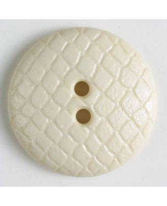Polyamidknopf leicht gewölbt, Oberfläche ähnelt Waben, 2-Loch - Größe: 18mm - Farbe: beige - Art.Nr. 266610