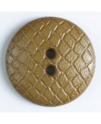 Polyamidknopf leicht gewölbt, Oberfläche ähnelt Waben, 2-Loch - Größe: 28mm - Farbe: beige - Art.Nr. 346611