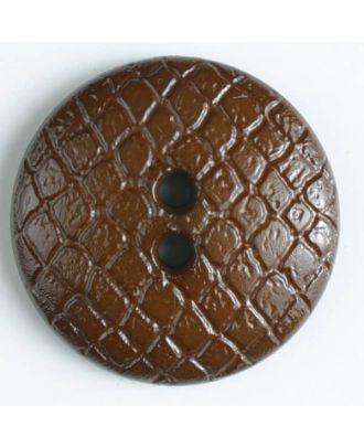 Polyamidknopf leicht gewölbt, Oberfläche ähnelt Waben, 2-Loch - Größe: 28mm - Farbe: braun - Art.Nr. 346612