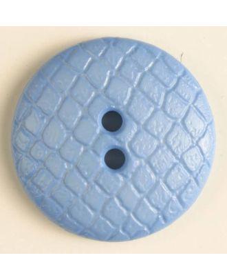 Polyamidknopf leicht gewölbt, Oberfläche ähnelt Waben, 2-Loch - Größe: 28mm - Farbe: blau - Art.Nr. 346614